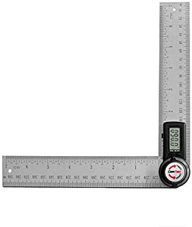 GemRed 82305 Digital Protractor Angle Finder Stainless Steel Ruler(200mm/7inch)