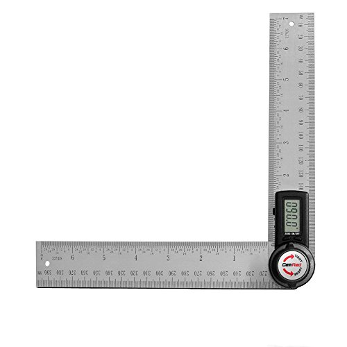 GemRed Digital Angle Finder Protractor (Stainless steel, 7inch/200mm)