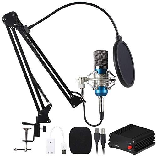 Microphone à condensateur Kit, réseau Professionnel Karaoke Anchor Microphone USB Power Kit, la Musique, Le Son