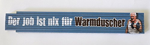 Xtreme duimstok van beukenhout, hout, blauw, 23,7 x 3,5 x 1,6 cm