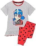 Pajamas miraculeux Girls Coccinelle Superhero T-Shirt & Long ou Shorts PJS 5-6 Ans