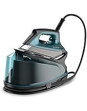 Rowenta Compact Steam Pro - Centro de planchado, 6.3 bares de presión, golpe de vapor de 325 g/minuto, suela antiarañazos deslizante, sistema eco