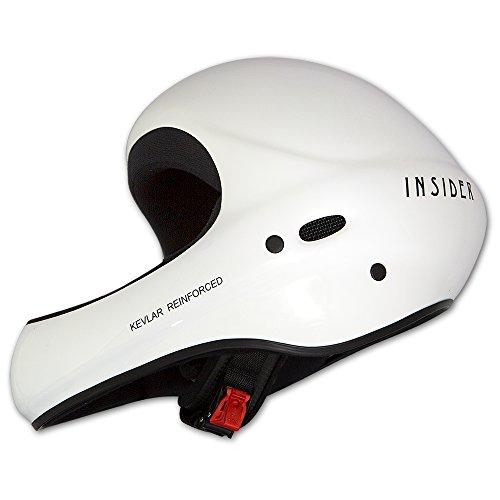 Charly Insider Unicolor, Flugsporthelm für Gleitschirm und Drachen, glänzend weiß, Größe S