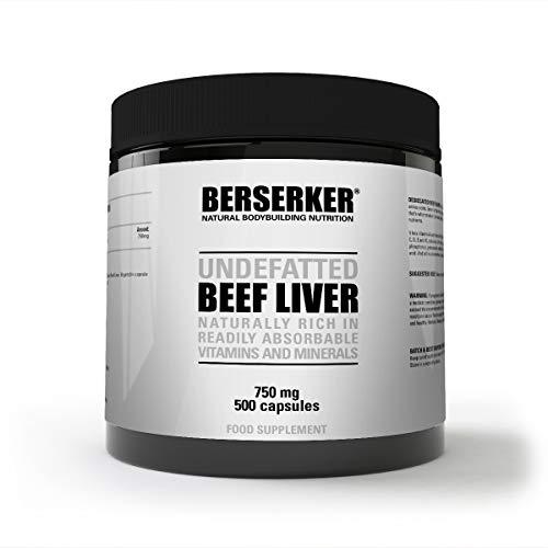 Berserker Desiccated Beef Liver 750mg 500 Capsules