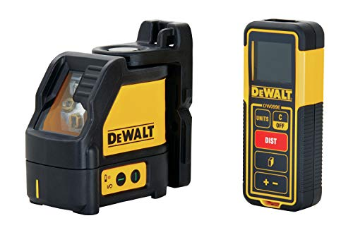 DEWALT TSTAK Laser Level & Laser Measure Tool Kit, Cross L...