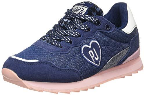 Pepe Jeans Mädchen BELLE DENIM Sneaker, Blau (Navy 595), 36 EU