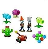 Plants Vs Zombie 7Pcs Box Set Plant Cactus Peashooter Puff-Shroom Soft Rubber Full Anime Figura Modelo Muñecas Juguetes para Niños