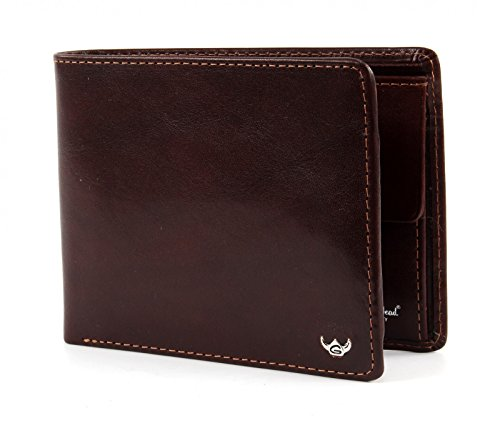 Golden Head Colorado RFID Protect Billfold Coin Wallet Quer Tobacco