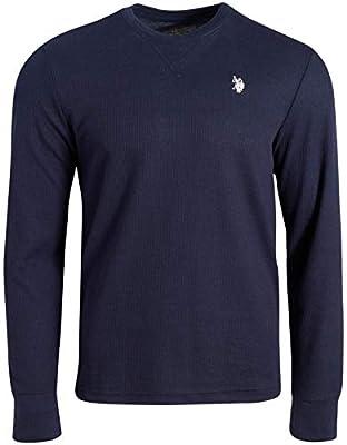 U.S. Polo Assn. Men's Thermal Underwear Crew Neck T-Shirt, Size Medium, Maritime Blue'