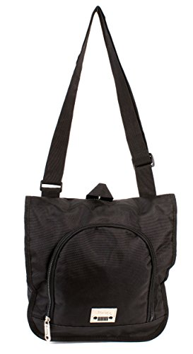 PH-1442 Black Jeep Messenger Unisex School Laptop Shoulder Bag