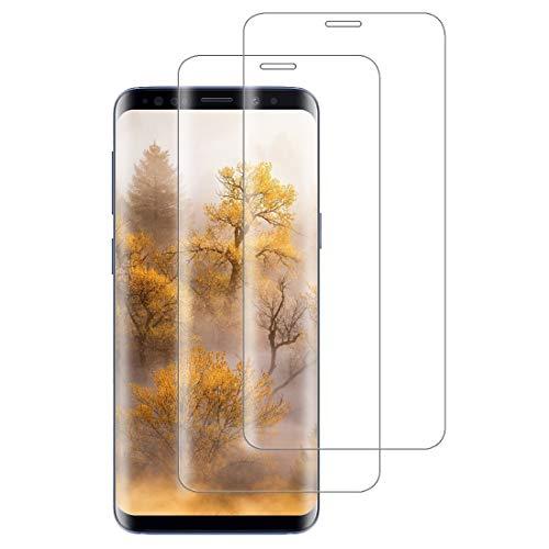 XSWO [2 Pezzi Vetro Temperato Galaxy S8, Protezione Schermo Samsung Galaxy S8 [3D Curvo Copertura Completa] [Durezza 9H] [Senza Bolle] [Anti-Impronte] Pellicola Protettiva Vetro S8
