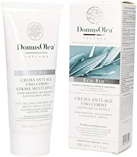 DOMUS OLEA TOSCANA - Anti Age Multi Effect Face and Body Cream - Super-moisturizing, Antioxidant, Elasticizing, Soothing - Icea Certified - Nickel Tested - 200 ml