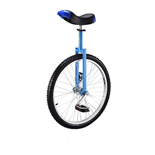 SWORDlimit 24 Inch Wheel Unicycle, High-Strength Manganese Steel Fork, Adjustable Seat, Aluminum Alloy Buckle, Non-Slip Tires and Non-Slip Beaded Pedals, Forged Crank,Blue
