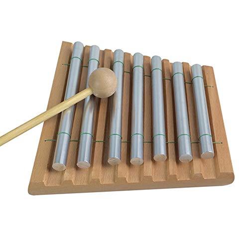 Yiyu Kinder Kleinkind 7 Ton Tabletop Energy Chimes Pädagogisches Musikspielzeug Schlaginstrument Mit Mallet Für Meditation Und Klassenzimmer x (Color : Brown)