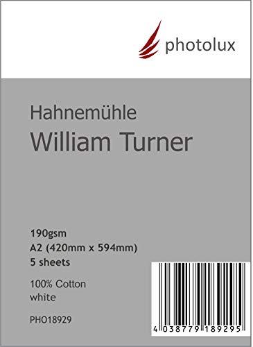 Hahnemühle William Turner 190g/m² DIN A2 in 5-Blatt FineArt Fotopapier