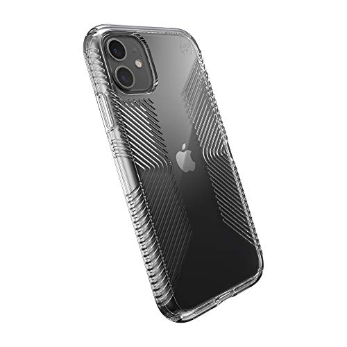 Speck Products Presidio Perfect-Clear with Grip iPhone 11 Case, Clear/Clear (136495-5085)