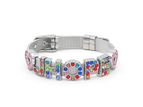Fanstown BTS Kpop Bangtan Boys Multicoloured Letters Member Nmae Handmade Titanium Bracelet