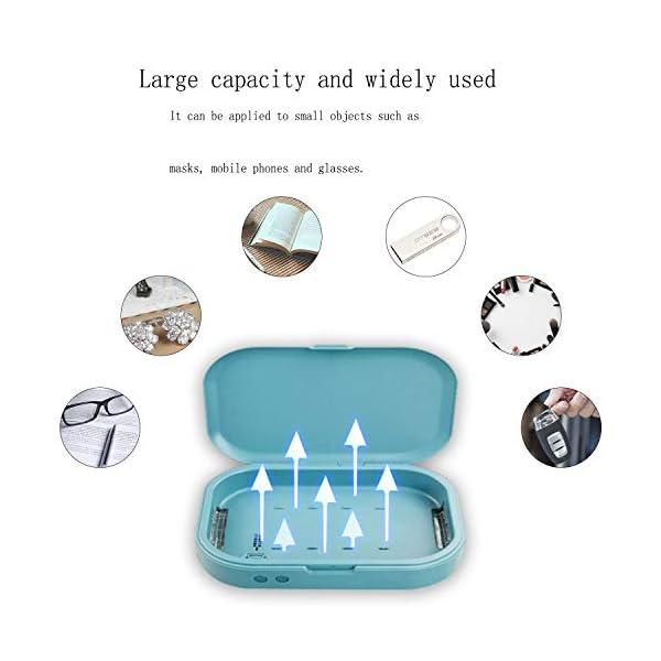 Tooklanet Esterilizador UV Cargador Inal/ámbrico Celular Caja Multifuncional Desinfecci/ón Caja de esterilizador para Relojes de Gafas