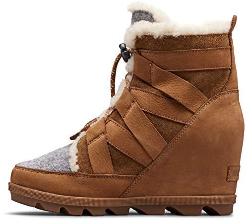 Sorel Women's Joan of Arctic Wedge Boots,驼色棕色,8.5中码美国