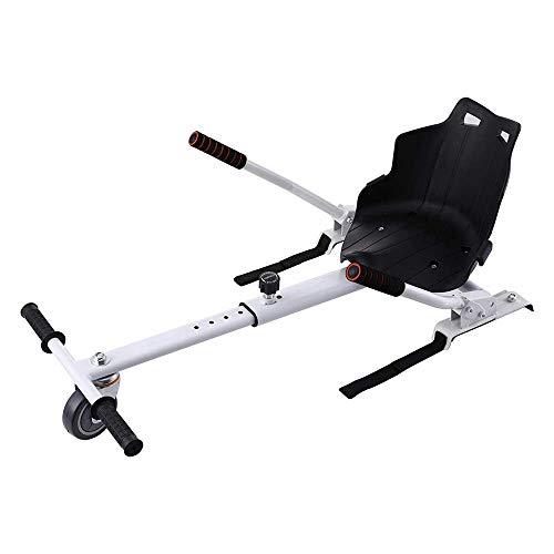 LIUXIN Asiento Kart Ajustable para Scooters de Autoequilibrio, Kart Adaptarse a 6.5 8 10 Pulgadas, Go Kart con Asiento para Niños y Adulto