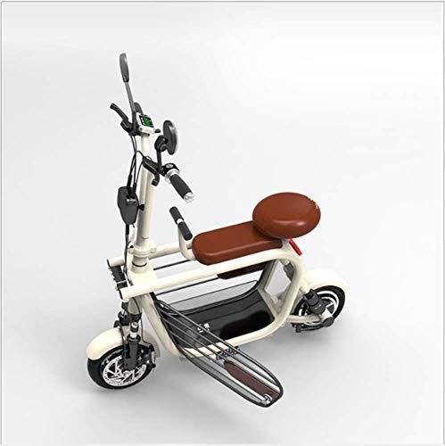 ZGYQGOO Scooter eléctrico, Plegable y fácil de Transportar, Velocidad de hasta 34 km/h con batería de Largo Alcance de 45 km, Bicicleta eléctrica de Velocidad Ajustable