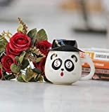 Satyam Kraft Pack of 1 Panda Printed Ceramic Mug with lid for Diwali