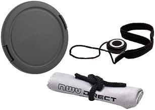 Lens Cap Side Pinch (52mm) + Lens Cap Holder + Nwv Direct Microfiber Cleaning Cloth for Leica V-LUX 4