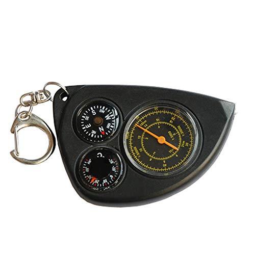 JJZXD Guía Multifuncional (Norte) Aguja Brújula portátil al Aire Libre Termómetro Mapa de Viaje Telémetro Instrumento de medición Brújula de Senderismo