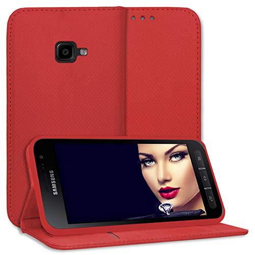 mtb more energy® Schutz-Tasche Bookstyle für Samsung Galaxy Xcover 4, 4S (SM-G390F, G398F / 5.0'') - rot - Kunstleder - Klapp-Cover Hülle Hülle