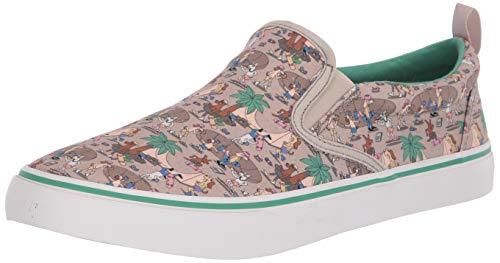 Skechers BOBS Men's V'Lite-Playa Pup Sneaker, Natural Multi, 10.5 M US