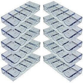 DA VINCI 10 Clear Acrylic Stackable Poker Chip Tray Racks