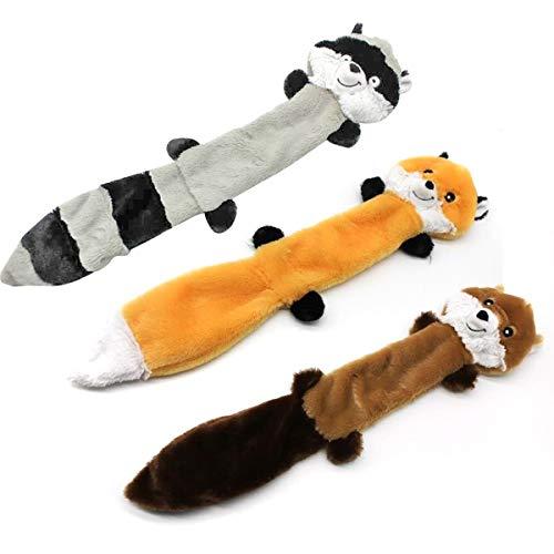 Haokaini 3 Stks Geen Vulling Hond Piepende Kauwspeeltjes Vulling-Vrije Hond Knuffels Met Piepers Voor Hond Huisdier