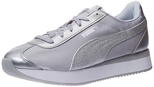 PUMA Turino Stacked Glitter, Sneaker Donna, Silver Silver, 38 EU