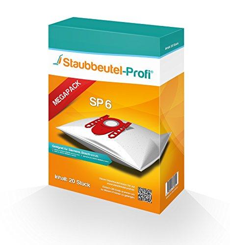 20 Staubsaugerbeutel geeignet für Siemens VSZ7442S ,VSZ7A400 Z7.0 von Staubbeutel-Profi® kompatibel mit Swirl S62 / S67 / S68 / S73 / Y94