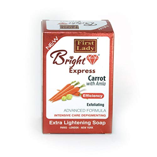 Bright Express Carrot & Amla Extra Skin Lightening & Exfoliating Soap 200g...
