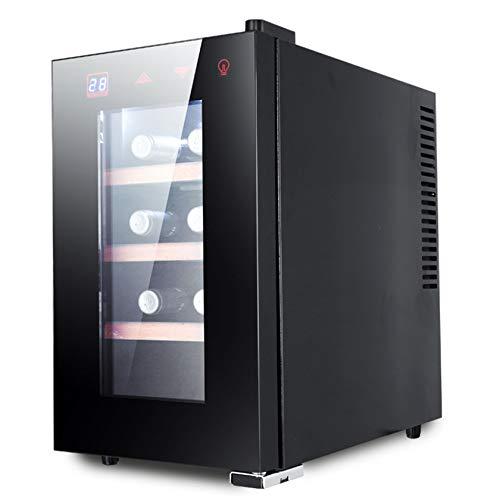 BLLXMX Vinoteca De 6-8 Botellas, Enfriador De Vino con Pantalla Táctil, Controles Electrónicos, Enfriadores De Vino, Temperatura De Zona Única
