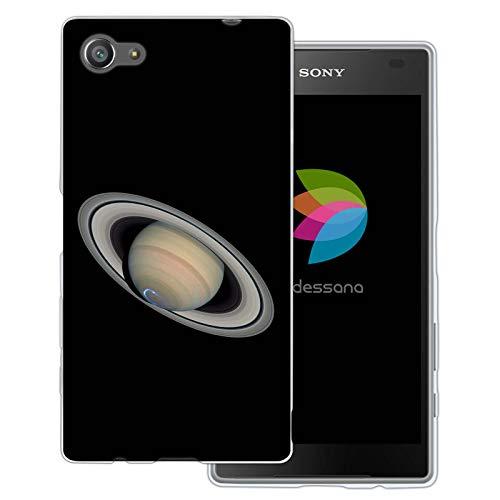 dessana Planeten transparente Schutzhülle Handy Case Cover Tasche für Sony Xperia Z5 Compact Saturn