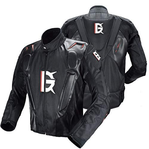 TIUTIU heren - motorjas PU uit - met afneembare voering, allweather jas en anti-val-wielersport pak Medium zwart