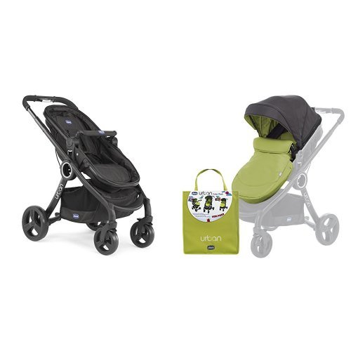 Chicco Urban plus -Carrito transformable en capazo y silla de paseo, color verde