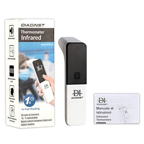 Termómetro digital de infrarrojos para fiebre, termómetro frontal profesional sin contacto con lecturas instantáneas precisas, termómetro para bebés y adultos