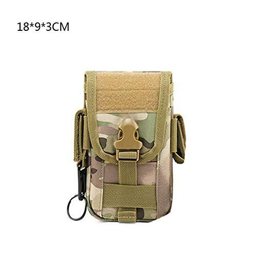 Riñonera Tactical Molle Wallet ID Funda Caja Monedero Bolso EDC Utility Gadget Pouch Cinturón Teléfono Teléfono Teléfono Bolsa de viaje Paquete de caza al aire libre para Senderismo Escalada Pesca Caz
