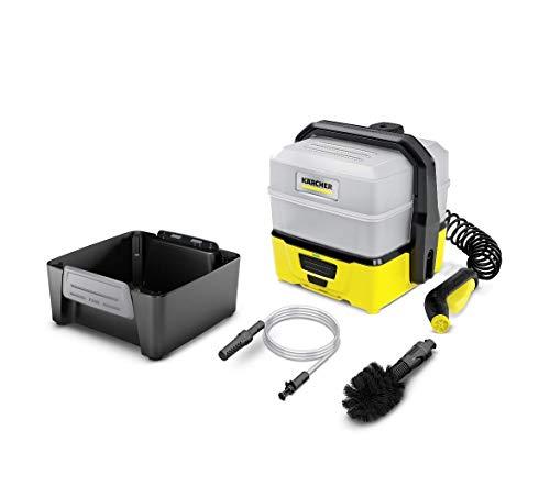 Kärcher Mobile Outdoor Cleaner OC 3 Plus Adventure Box (Wassertankvolumen: 7 l, Lithium-Ionen-Akku, abnehmbarer Wassertank, schonender Niederdruck, Universalbürste, Ansaugschlauch)