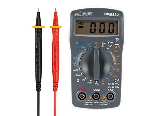 VELLEMAN - DVM832 Digital-Multimeter- Cat Ii 500 V / Cat Iii 300 V- 10A- 1999 Zählungen 176525