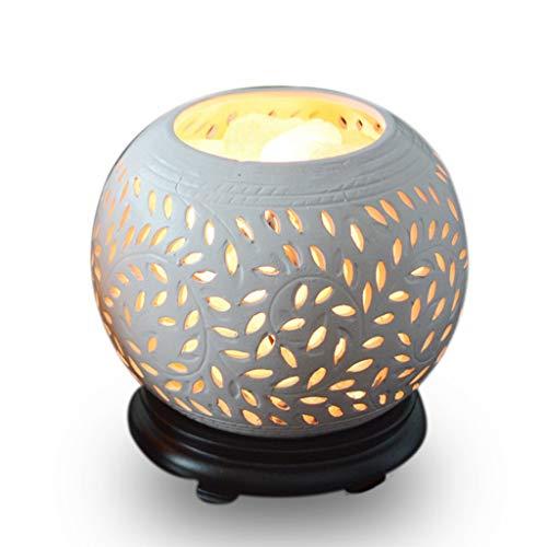 Luminaires & Eclairage/Luminaires intérieur/EC Lampe de sel en Cristal Lampe de lumière en céramique Lampe en sel de l'Himalaya Lampe de Table européenne Petite Lampe de Chevet de la Chambre