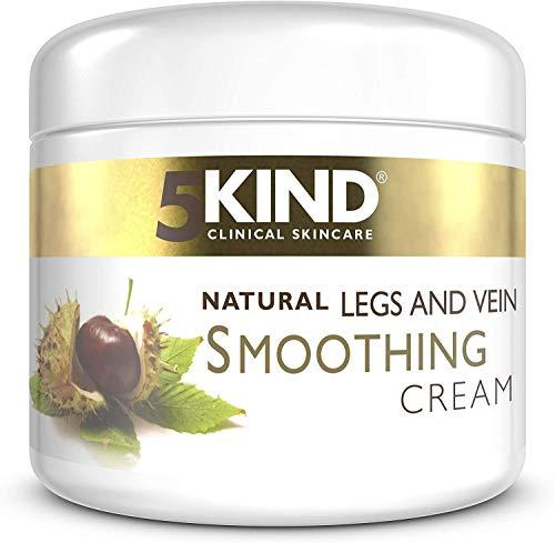 Creme gegen Krampfadern und müde Beine – Beruhigende, glättende, natürliche Creme von 5kind – Besenreiser – 200 ml
