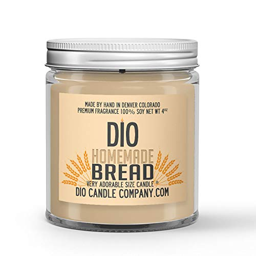 Homemade Bread Candle - Freshly Baked Crusty Loaf Scented - - 100% Vegan Soy Wax - Handmade in Small Batches