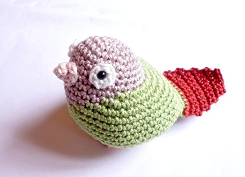 Greencheek Conure, Parrot Stuffed Animal, Crochet Parrot Toy, Amigurumi Miniature, Crochet Animal