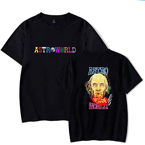 JJZHY Rapper Travis Scott Album Astroworld Persönlichkeit Thema Print Baumwolle T-Shirt,1,L