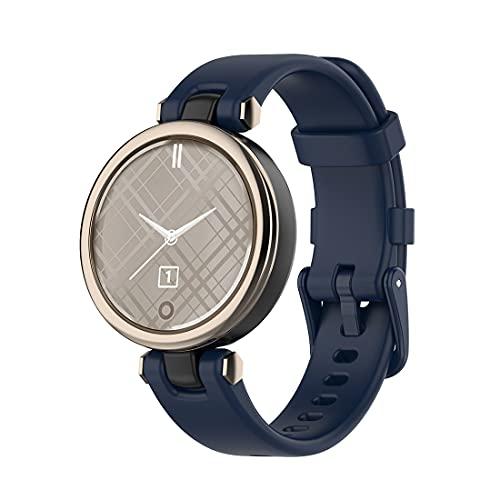 Bexido Correa de repuesto compatible con Garmin Lily Band, silicona suave para mujer, accesorio para reloj inteligente Garmin Lily (azul marino)