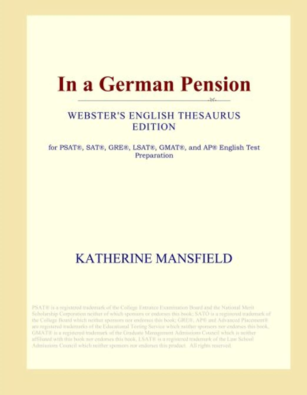 In a German Pension (Webster's English Thesaurus Edition)
